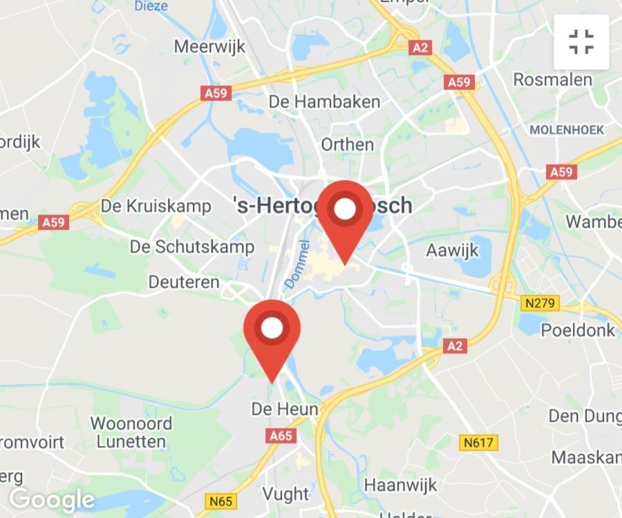 Kaart coronatest-denbosch.com - Coronavirus test locaties Den Bosch